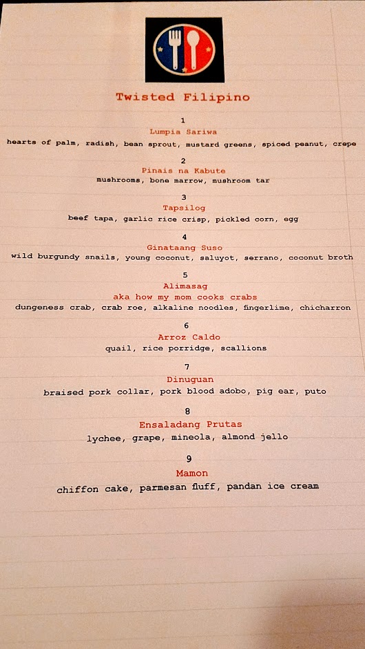 Twisted Filipino December Dinner by Carlo Lamagna, popping up here at Holdfast at Fausse Piste