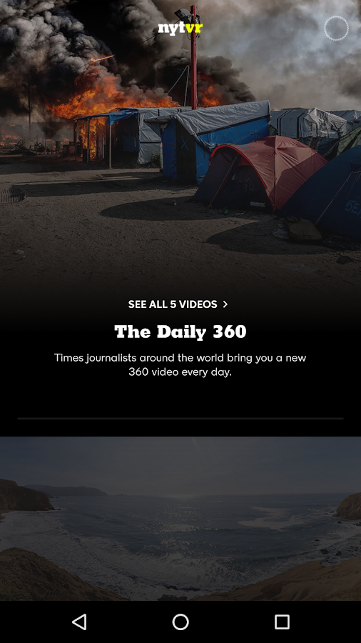 NYT VR – Virtual Reality- screenshot
