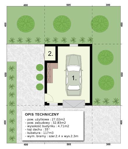 G-T2c - Rzut garażu