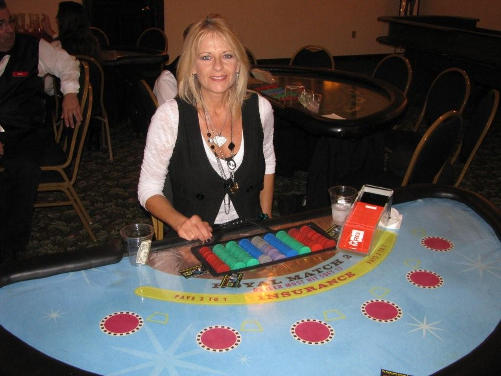 Photo: Blackjack at the CASA fundraiser - Lucky Linda's Casino Party Events