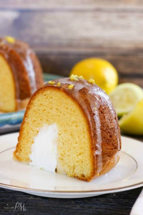 "Cream Filled Lemon Bundt Cake""A beautiful Bundt cake that's buttery, lightly lemon..."