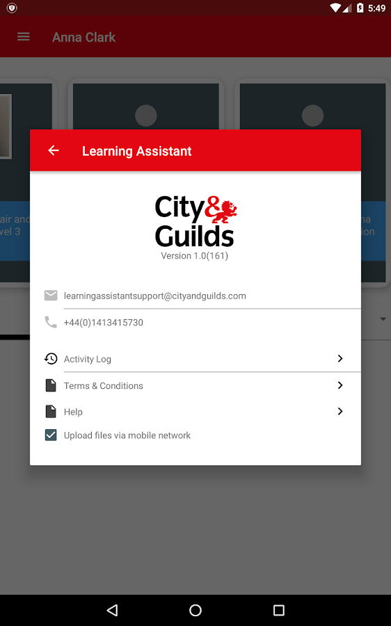 Learning Assistant- screenshot