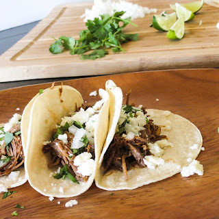 Slow Cooker Barbacoa Beef Tacos.