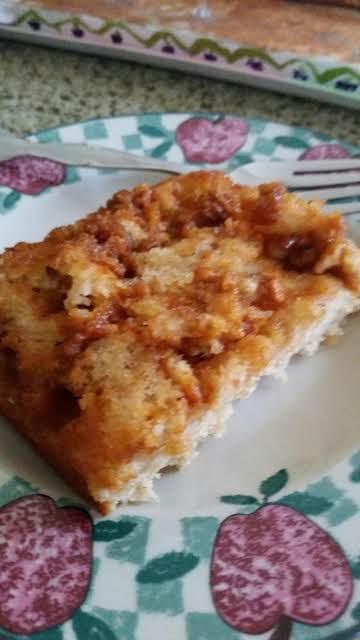 Apple Banana Butterscotch Snack Cake