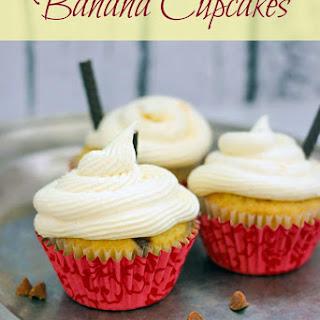 Banana Cupcakes Recipe with Vanilla Pudding Frosting