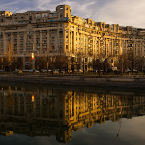 Twilight reflection by Matei Edu - Buildings & Architecture Public & Historical ( water, reflection, building, twilight, architecture,  )