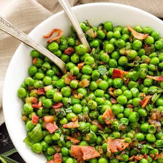 Sautéed Herbed Peas with Bacon.