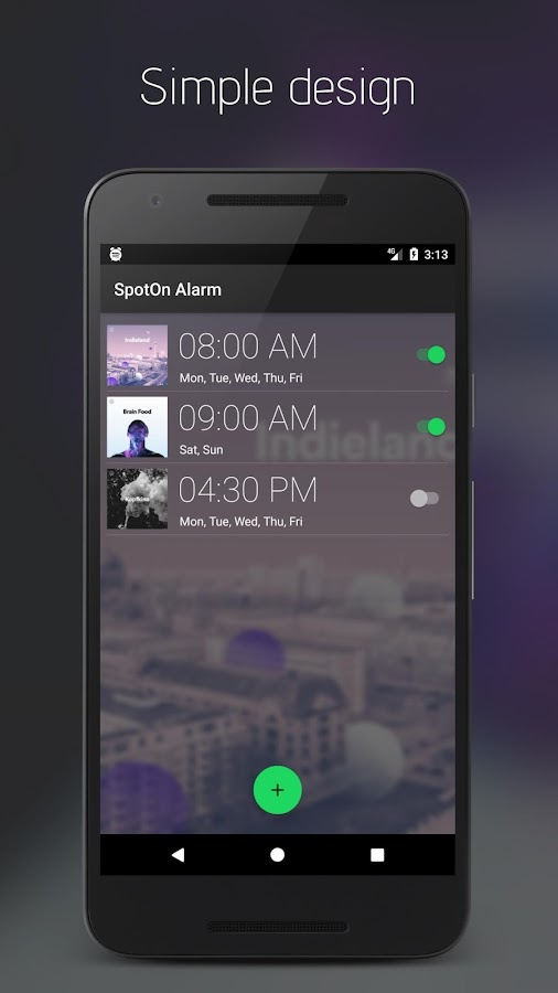 SpotOn Alarm para Spotify (Unreleased): captura de pantalla