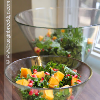 Kale Salad with Persimmon & Pomegranate.