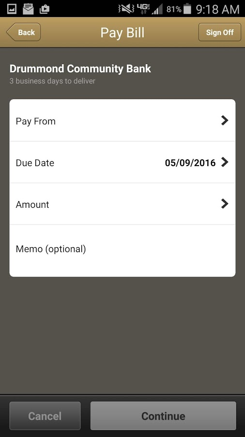 Drummond Community Bank Mobile- screenshot