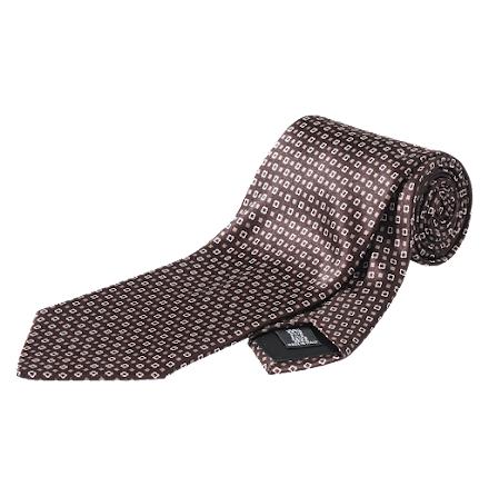 Oscar Jacobson slips brun mini rutor siden