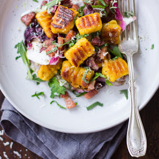 Gluten-Free Pumpkin Ricotta Gnocchi with Pancetta and Seared Radicchio Recipe