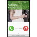 Fake call girlfriend prank icon