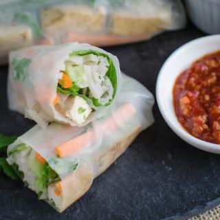 Vietnamese Vegan Spring Rolls.
