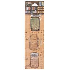 7 Gypsies Architextures Trinkets Adhesive Embellishments - Tinted Mason JarUTGs