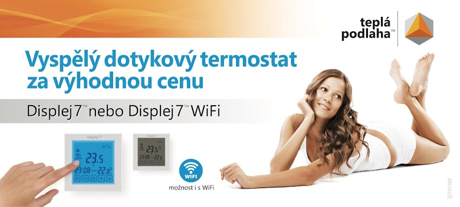 Displej 7 touch screen thermostat