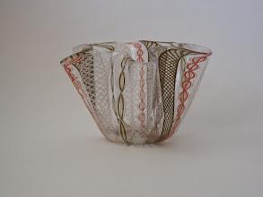 Photo: Zanfirico hankerchief (Fazzoletto) vase.