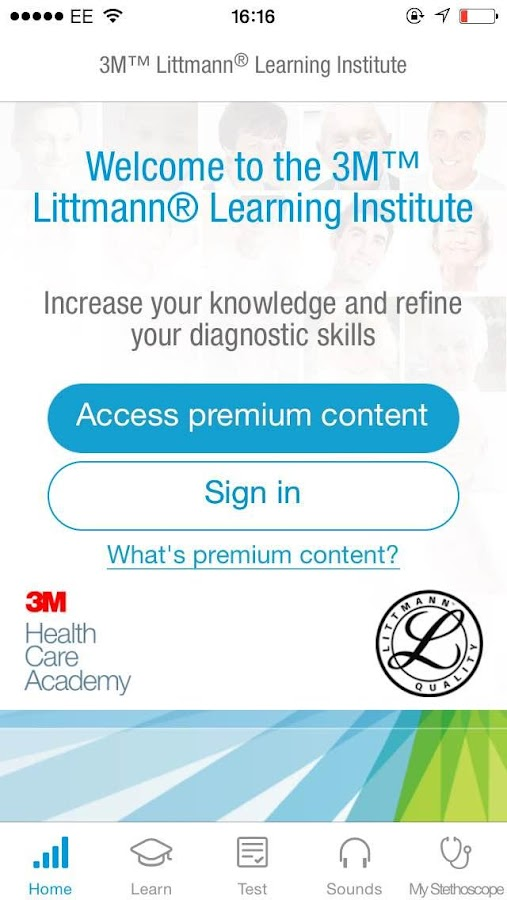 3M Littmann Learning Institute- screenshot