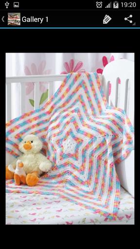 鉤針圖案嬰兒毯