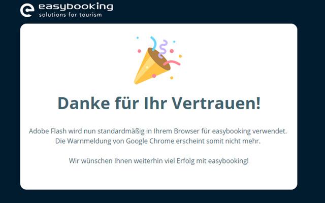 easybooking - Erlaube Flash in Google Chrome