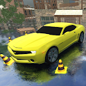 Driving Car Simulator Waterland Muscle Car Parking icon