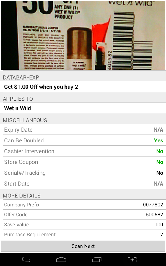 Coupon Scan- screenshot
