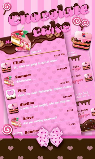 FREE GO SMS CHOCOLATE THEME
