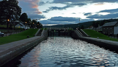 Photo: Locks at Fort Augustus at night