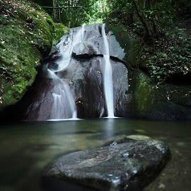 Kipungit Waterfall, Sabah by Affan Nasruddin - Landscapes Waterscapes ( nature, waterfall, sabah, malaysia, landscape, slow shutter )