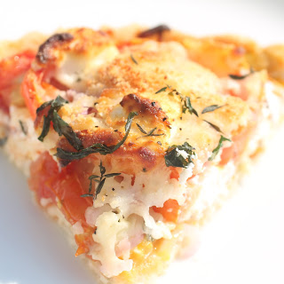 Rustic Tomato and Cheese Pie