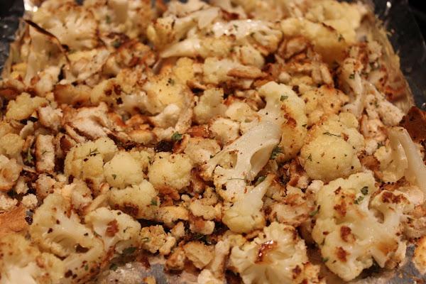 Roasted Cauliflower With Garlic & Breadcrumbs Recipe