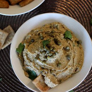 Smoky Eggplant Caper Hummus.