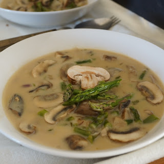 CROCK POT ASPARAGUS MUSHROOM SOUP FOR BUSY WOMAN