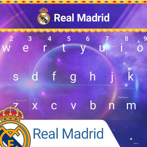 Real Madrid Galactical Keyboard Theme