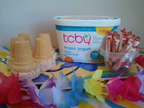 Photo: Our TCBY frozen yogurt tropical party was lots of fun!