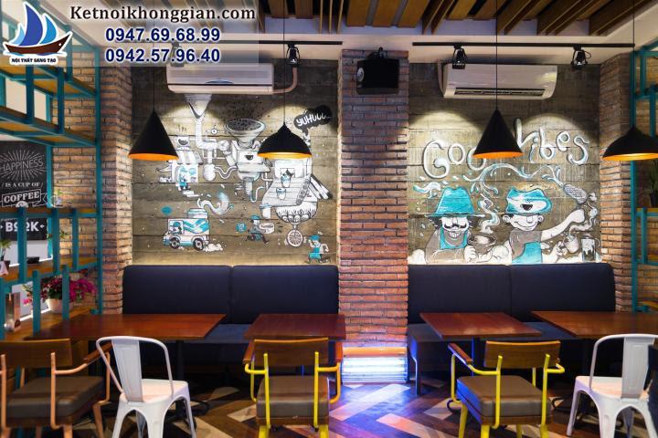 thiết kế quán cafe trẻ trung