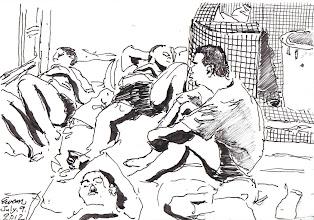 Photo: 盡夜思2012.07.09鋼筆 刑期長長淚不歇 黑夜漫漫夢不絕 輾轉反側乍驚夢 盡夜長思自做孽
