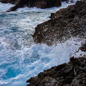 Waves by Edu Marques - Nature Up Close Rock & Stone ( naturelovers, praia, watercolor, waves, rock, nature close up, beach, photooftheday, nature, natureza, wave, nature photography, rocks )