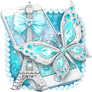 Turquoise Diamond Butterfly Theme