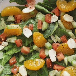 Spinach Salad with Mandarin Oranges.