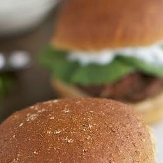 Mediterranean Meatloaf Sliders With Yogurt Sauce