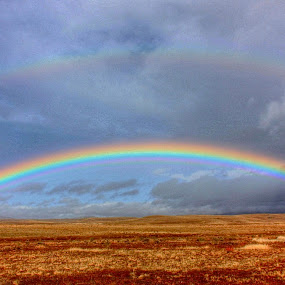 Double Rainbow  by Rose Smith - Landscapes Cloud Formations ( double rainbow )