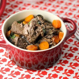 Easy Slow Cooker Beef Bourguignon.