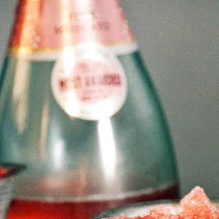 Strawberry Champagne Granita.