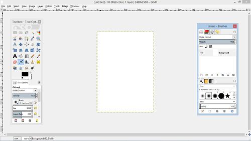GIMP software for flyers