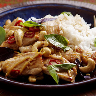 Basil and Cashew Chicken Stir-fry