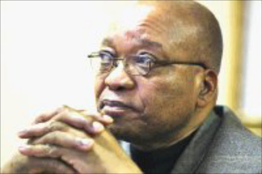 PENSIVE: Jacob Zuma contemplates his future as president of the country during Sowetan's exclusive interview with the ANC chief yesterday. Pic. Lucky Nxumalo. 28/05/08.  Sowetan.