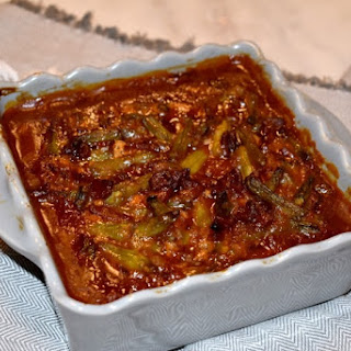 Jude's Smothered Bacon Barbecue Green Beans.