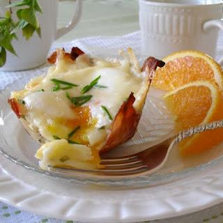 Eggs in Bacon-Potato Nests