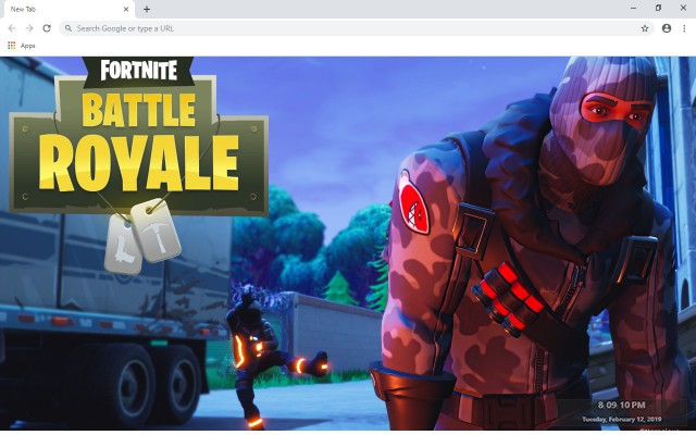 Fortnite New Tab & Wallpapers Collection